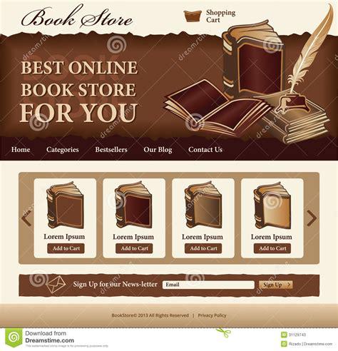 Book Store Template Stock Photos Image 31129743 Bookstore Website Template