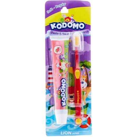 Pasta Gigi Kodomo jual kodomo 2 in 1 pasta sikat gigi anak soft regular