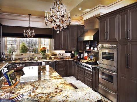 Kitchen Brown Cabinets by Chocolate Brown Cabinets