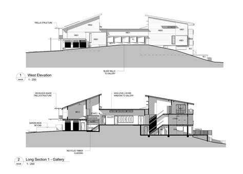 house plan section and elevation section elevation plan modern house