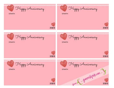 anniversary coupon template 5 thoughtful and inexpensive anniversary gift ideas