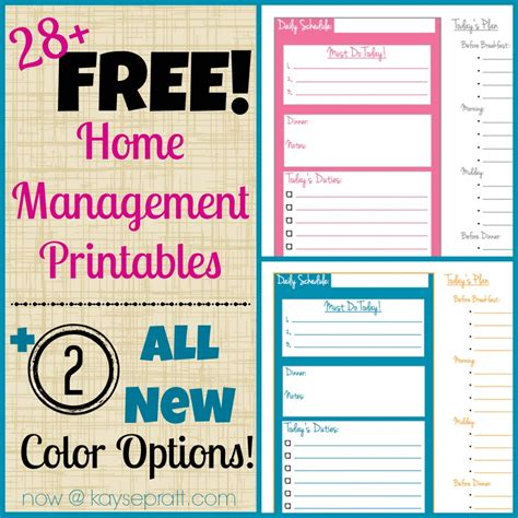 home management binder templates free 5 best images of home printables free home