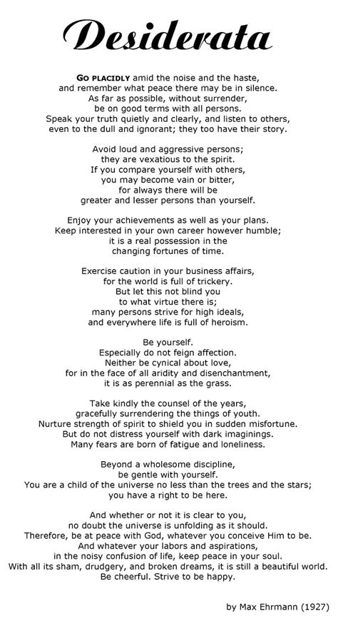 desiderata tattoo best 25 desiderata poem ideas on soul