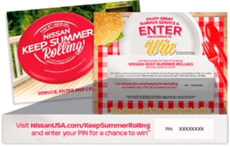 Nissan Summer Sweepstakes 2017 - nissanusa com keepsummerrolling nissan usa keep summer rolling service sweepstakes