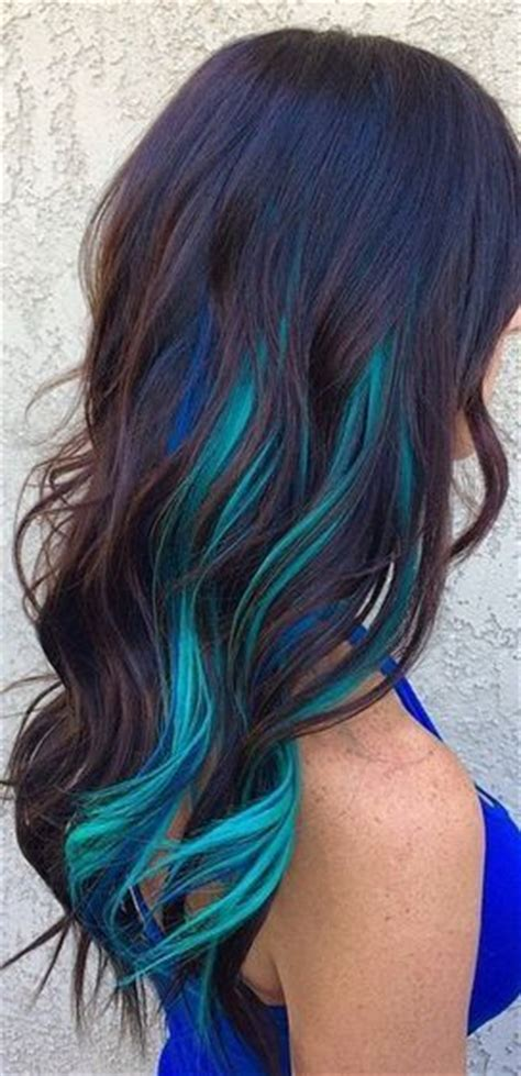 hair with colored highlights the 25 best blue hair highlights ideas on