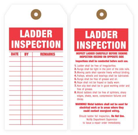 ladder inspection template inspection tags production tags and safety