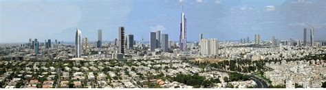 the future tel aviv ramat gan skyline panorama view