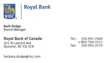 royal bank financial our members quesnel business network