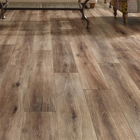 mannington restoration wide plank 8 quot x 51 quot x 12mm laminate in brushed coffee reviews wayfair