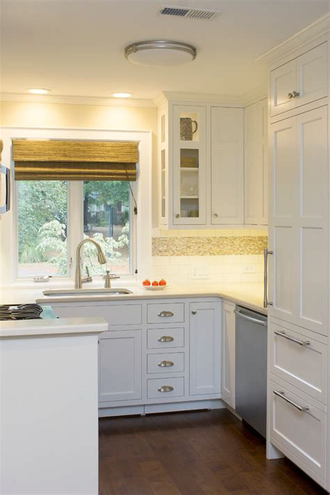 Transitional Kitchen Cabinets by Corner Cabinet Kitchen Kitchen Farmhouse With Bar Sink