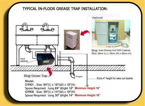 how to install a trap grease trap installation guide