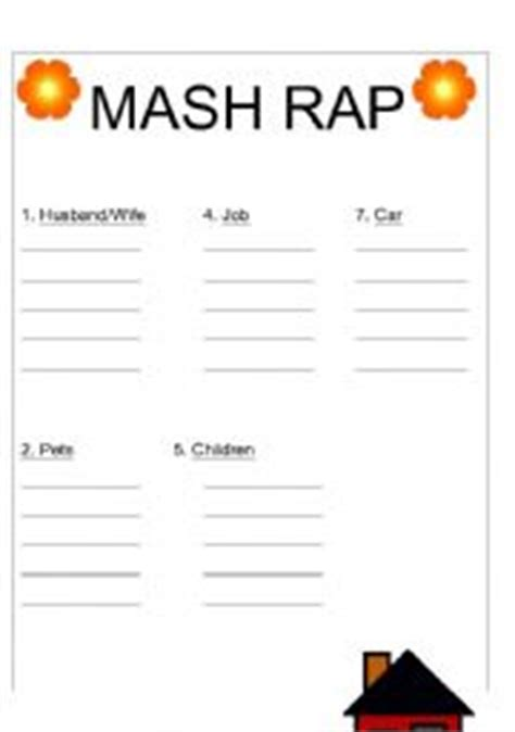 Mash Outline by Worksheets Mash