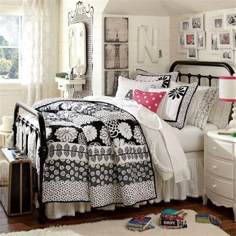 black and white teenage bedroom pottery barn teen girls bed room cute room ideas pinterest accent colors bed room and girls