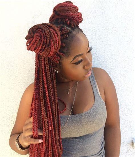 box braids two buns hairstyle pics top 20 box braids updo hairstyles