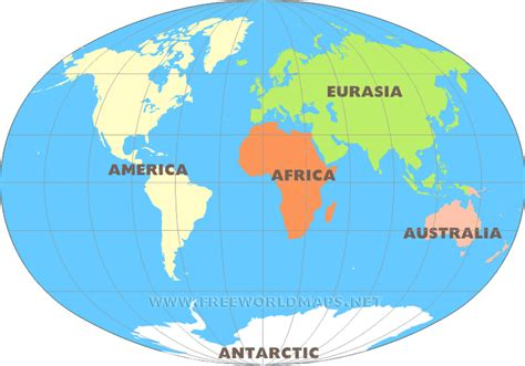 image of world map with continents seven continents maps of the continents by freeworldmaps net