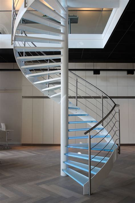 spiral staircase lighting ideas sensational spiral staircase offer green glass material