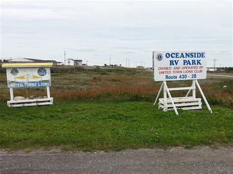 oceanside park oceanside rv park port au choix newfoundland