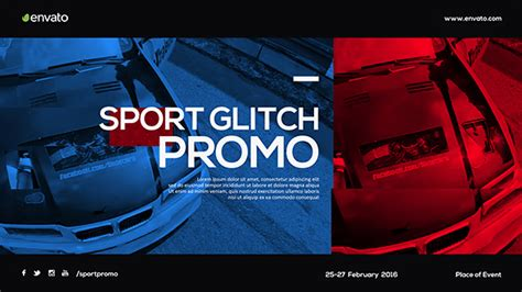 sport glitch promo sports after effects templates f5