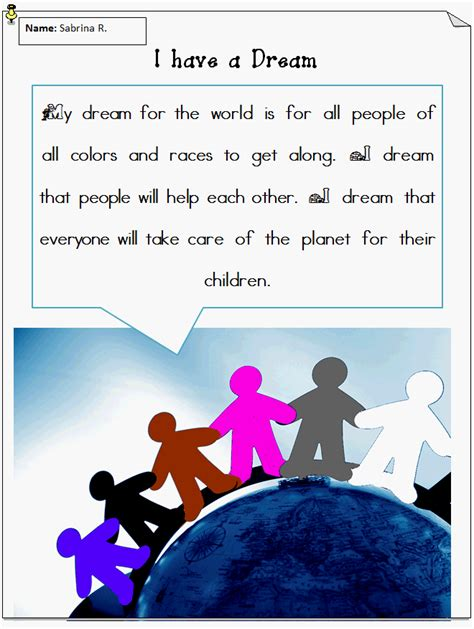i have a dream lesson plan k 5 computer lab
