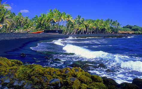 punaluu black sand beach big island 7 handsome beaches of march nature wallpaper