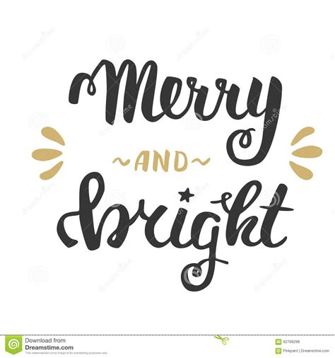 merry and bright card template merry and bright greeting lettering