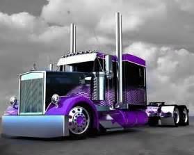 what color is a truck purple black custom peterbilt trucks