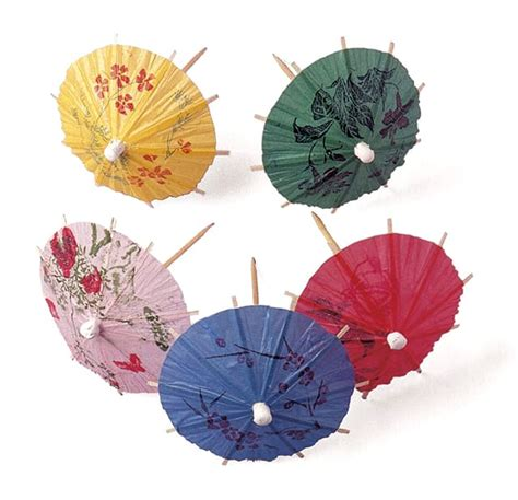 parasol decorative wooden picks meilleurduchef com