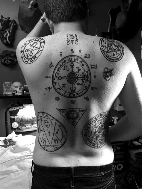 this guy got the most intense occult tattoos ever