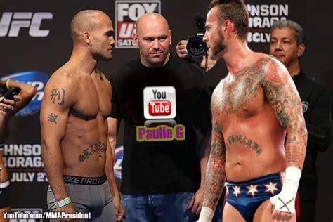 robbie lawler tattoo robbie lawler versus cm fight staredown mma photo