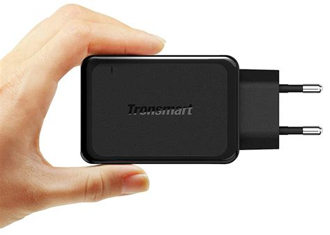 Terlaris Tronsmart Charger Usb Qc 3 0 Eu Dengan Kabel Type C Wc1 tronsmart usb charger 3 port qc 3 0 w3pta black