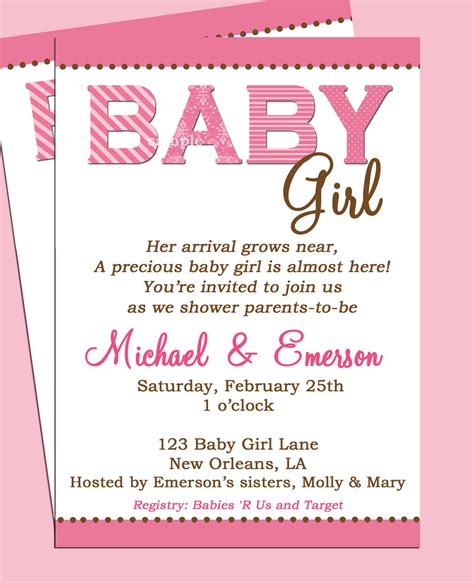 Baby Shower Invitation Card Wording by Baby Shower Invitation Wording Lifestyle9