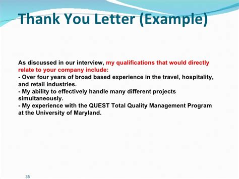 thank you letter to client for hospitality career management presentation