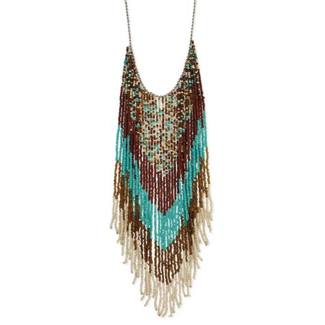 Fringe Necklace wholesale southwest bead fringe necklace zad fashion