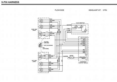 western 9 pin wiring harness wiring diagram