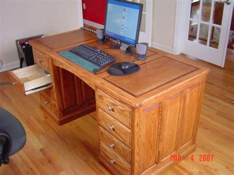 build wood desk plans  diy popular mechanics diy