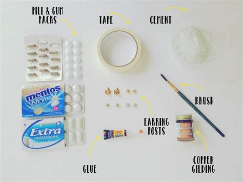 Pillpaks Make Pill Popping Easy by Diy Cement Studs 183 How To Make A Stud Earring 183 Jewelry On