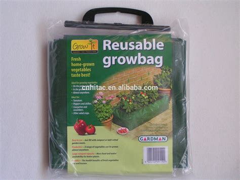 Planterbag 100 Liter Putih 100l green reusable square rectangle grow planter bag with wire patio large size