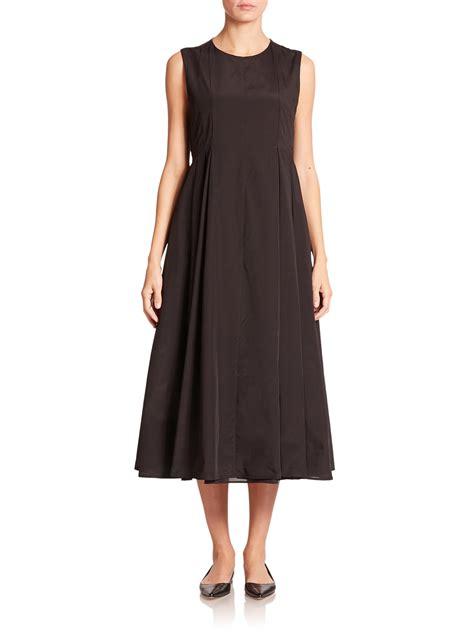 Pleated Dress 16091 Black lyst max mara arizia pleated dress in black
