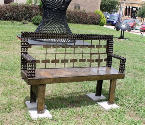metal bench raymond guest at recycled salvage design