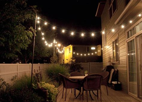 string lighting idea  outdoor deck home sweet home   patio lighting patio string