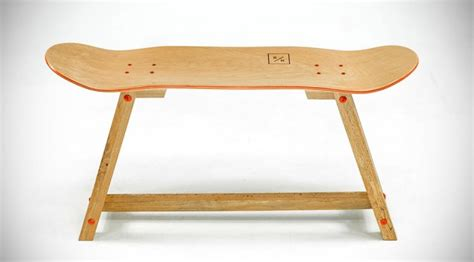 skateboard furniture company makes beautiful furniture out of skateboard decks mikeshouts