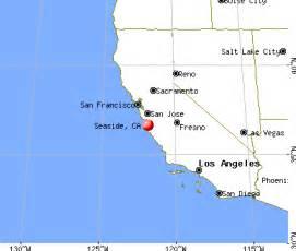 seaside california map seaside california ca 93955 profile population maps