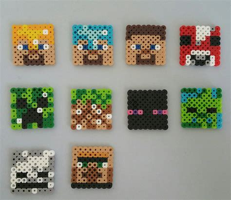 bead characters perler bead minecraft characters by creativeme4you on etsy