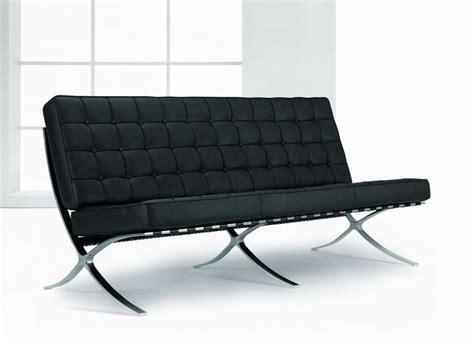 Exposition Famous Design Black Leather Sofa Prime Classic