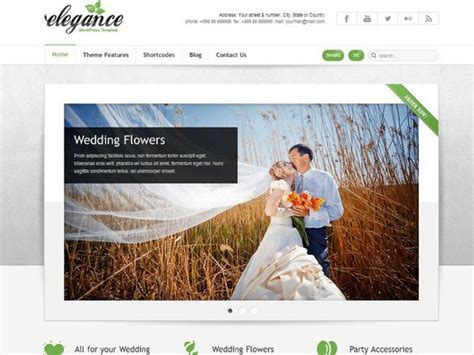 20 Best Wedding Website Templates (CSS/HTML & WordPress
