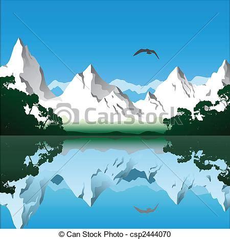 clipart montagna clipart vettoriali di montagna paesaggio paesaggio con