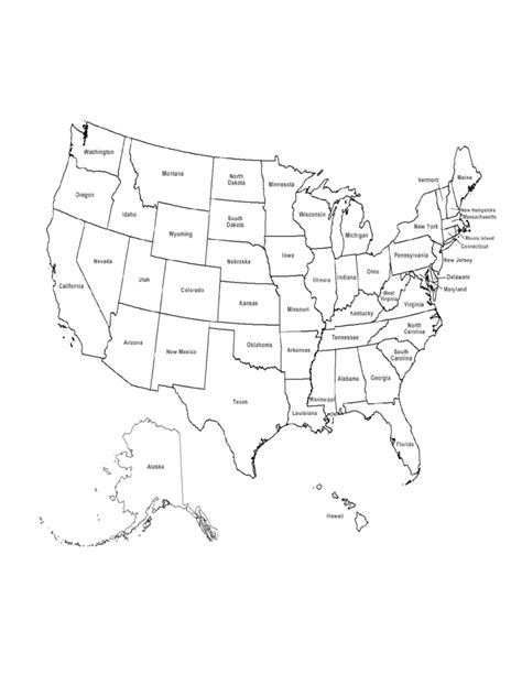 us map with state names pdf u s maps template 5 free templates in pdf word excel
