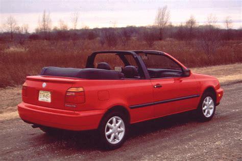 volkswagen cabrio 1995 02 volkswagen cabrio consumer guide auto