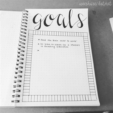 creative planner 2017 goals free printable wee share
