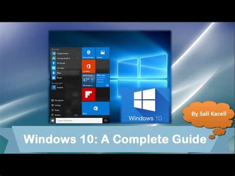 windows 10 beginners guide tutorial youtube windows 10 tutorial a beginner s comprehensive guide of